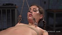 Small tits babe caned and anal fucked />                             <span class=