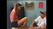 Sweltering legal age teenager gives head and ge...