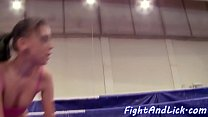 Wrestling les masturbating in the boxing ring pornhub video
