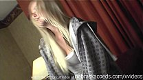 hot bleached blde girl nervous for first video then naked in public - 9Club.Top