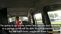 Supert sexy blonde Sienna flashes her tits and gets fucked in the taxi