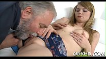 Brave youthful gal fucked by old knob