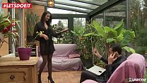 LETSDOEIT - French Brunette Wife Drilled in Bot...