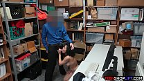 Busty teen shoplifter fucks the security guard for freedom preview image