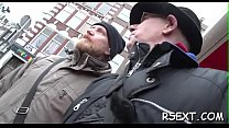 Concupiscent old guy gets it on in the amsterdam redlight district Thumbnail
