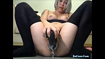 Horny girl full cum pussy with big toy