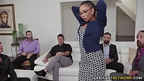 Ebony Cali Caliente's Training Turns To Gangbang