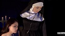 Subtitled HD Japanese schoolgirl spies lesbian nuns preview image