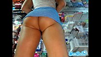 Teen Stepsister With Fat Ass At Work On Hidden Cam Trying To Make Her Lesbian St