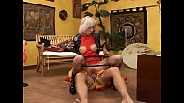 Hot blonde rides her master's cock Thumbnail