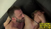 Tall stunner Jentina Small sucks dick before pounding