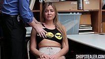 Attractive Shoplifter Blair Williams Gives Head and Stuffed
