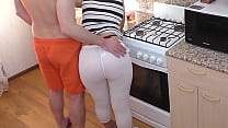 Mom and son. Anal sex in the kitchen