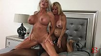 Two WHITE MILFs  and a BIG BLACK COCK Sally D'angelo Brooke Tyler Image