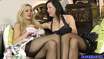 British cougar dildoing after oral with les