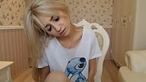 Hot blonde young teen masturbating Part 1