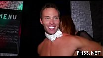 2 blonde cute waiters oozing puss and fucking one bitch wildly