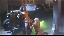 Superb blone and brunette lesbians are licking anf fingering one another's hot cunts