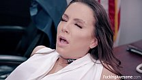 Secretary Abigail Mac fucks her boss Image
