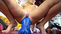 Hot teen blonde mastubate and massive anal dildo ride with squirt on ChatGirls.cloud's Thumb