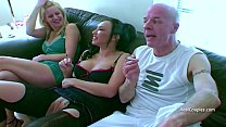 Bi guy and his kinky wife with a MILF and males