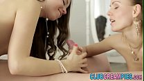 Teen creampied in 3some صورة