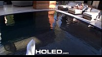 HOLED Backyard anal massage fuck with juicy creampie for Aspen Ora - 9Club.Top