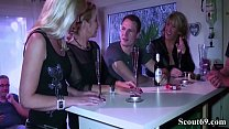 Three German MILFs seduce Young Guy to Fuck in Group