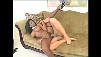 Big butt horny black girl Vanessa Blue excellent anal fucks by big white cock صورة