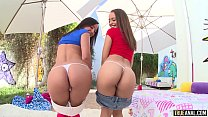 TRUE ANAL Amara and Holly bubble butt anal fun and cum swap - 9Club.Top