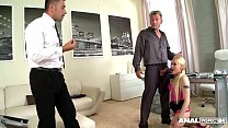 Innocent Blonde Lola Taylor Gets Drilled Hardcore by Two Studs thumbnail