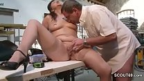 GERMAN BBW GRANNY HILDE FUCK WITH GUY AT WORK