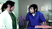 Lesbian Doctor and patient mature young girl on...