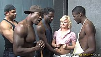 Kelly Surfer Is Getting Gangbanged By 4 Huge Bl...