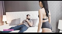COCK ADDICTION 4K (focused on male ) rough muscled boy with real big cock fucking hardcore with petite brunete teen the son of her boss