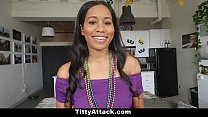 TittyAttack - Hot Big Tit Babe Fucked During Mardis Gras - 9Club.Top
