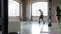 Classy beauty rides cock after workout [운동중에 벌어지는 일 Workout]