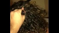Giving hair to the eater and sending a video to the cuckold who is waiting at home.