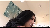 Naughty damsel is charming dude with her divine oral-sex video