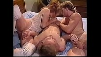 Stud and sexy slut take turns sucking their friends cock in his bedroom