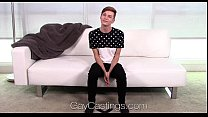 HD GayCastings - Young twink Lenox huge facial by amateur