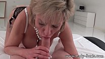 MILF Lady Sonia strip and suck intruders dick