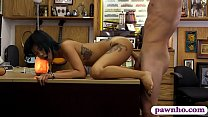 Skinny asian drilled by nasty pawn guy at the p...