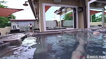 Hot Petite Step-Sister Emma Hix Gets Fucked in Hot Tub.
