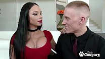 Raven Bay Sucks Some Cock & Balls While Her Hubby Watches - Cuckold