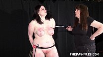 Alyss extreme lesbian bdsm and whipping to tears of private bbw slave girl Vorschaubild
