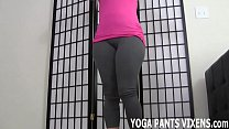 These yoga pant s really hug my pussy JOI  pussy JOI
