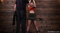 Blonde sub Lily LaBeau gets caned's Thumb