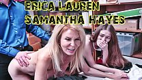 StepMom Erica Lauren And Daughter Samantha Hayes Caught Stealing And FUCKED HARD