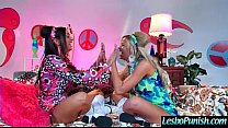 Hard Action Sex With (abigail&jessa) Lesbian Girls Punishing With Dildos clip-03's Thumb